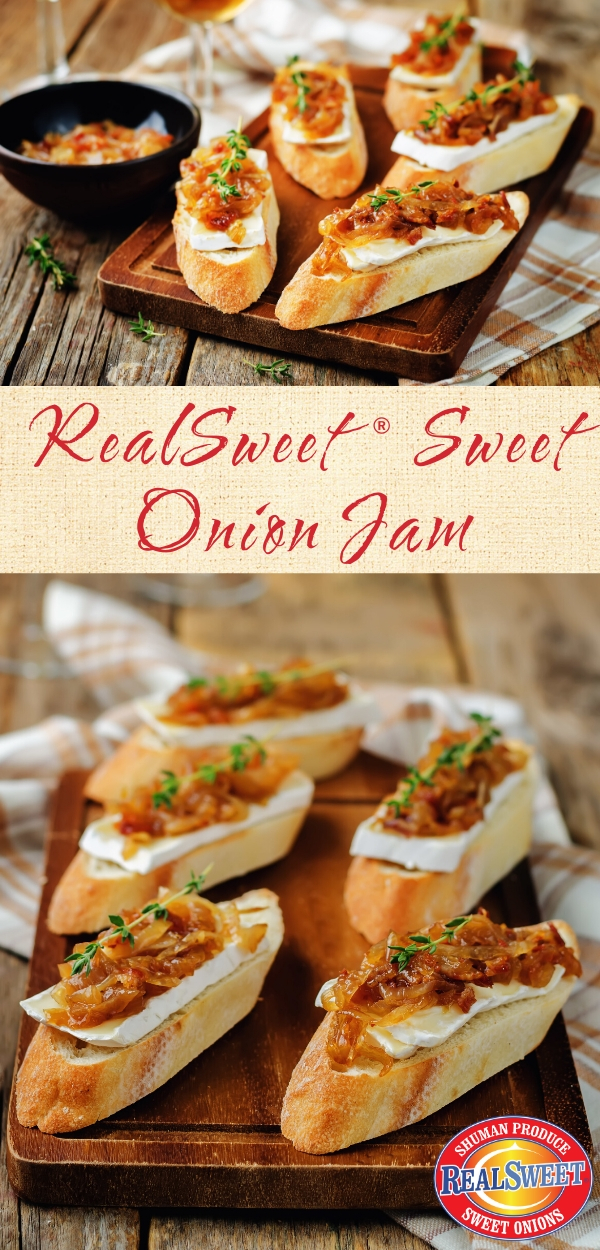 sweet onion jam on crostini
